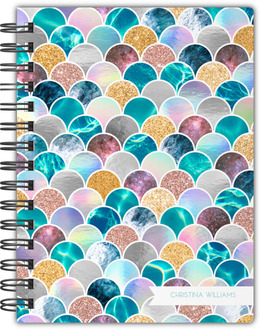 Faux Glitter Mermaid Scales Notebook