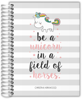 Stripes Unicorn Quote Student Planner