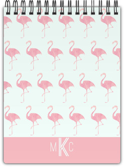 Pink Watercolor Flamingo Notebook