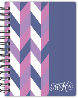 Purple Chevron Monogram Notebook