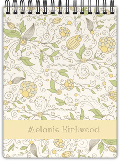 Whimsical Yellow Floral Notebook