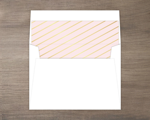 Pink Graduation Announcement Envelope Liner