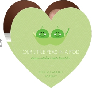Peas in a Pod Photo Twin Birth Announcement