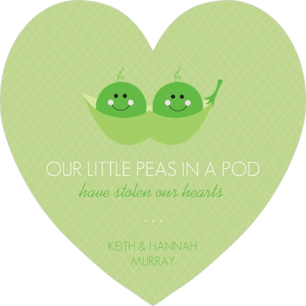 Pods Quote: Peas In A Pod Photo Twin Birth Announcement