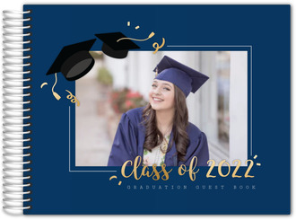 Simple Graduation Photo Guest Book