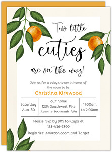 Little Cuties Baby Shower Invitation