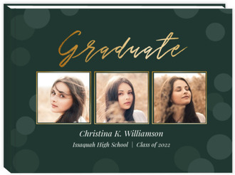 Bokeh Background Graduation Guest Book