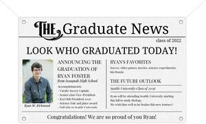 Vintage Newsletter Graduation Banner