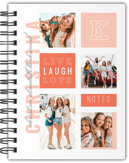 Modern Color Photo Grid Notebook