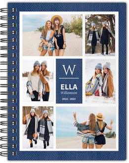 Faux Denim Photo Grid Notebook