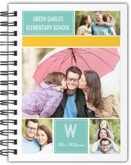 Colorful Family Photo Grid Notebook