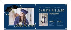 Simple Faux Foil Graduation Photo Banner