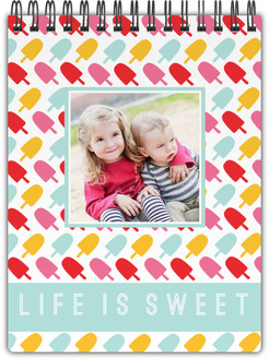 Life is Sweet Photo Notebook