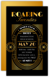 Faux Gold Roaring Twenties Prom Ticket