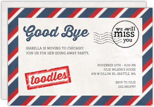 Good Bye Mailer Going Away Invitation
