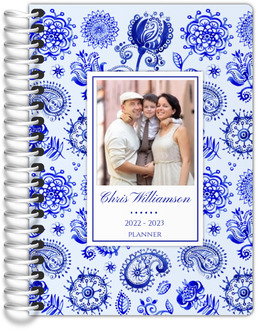 Royal Blue Watercolor Pattern Tiny Planner