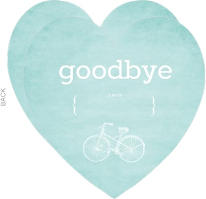 Turquoise Modern Bike Farewell Party Invitation
