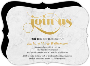 Classic Marble  Class Retirement Invitation