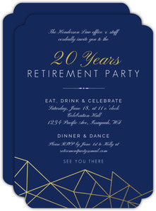 Modern Geometric Foil Retirement Invitation