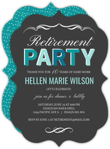 Turquoise Celebration Retirement Invitation