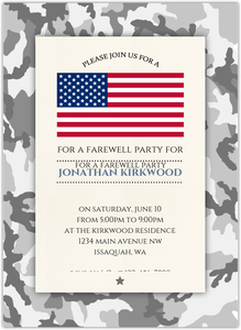 Camo Military Send Off Party