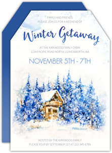 Winter Cabin Getaway Invitation