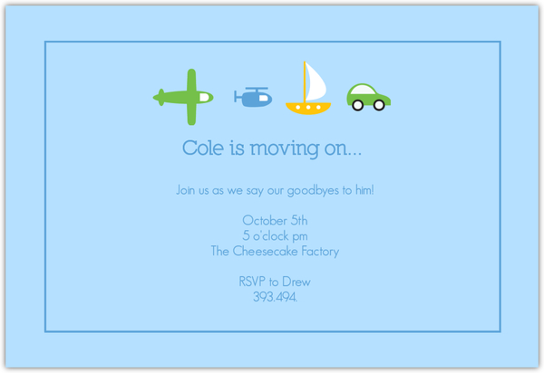 Moving On Farewell Party Invitation | Going Away Party ...