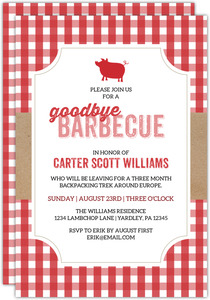 Goodbye Barbecue Going Away Party Invitation