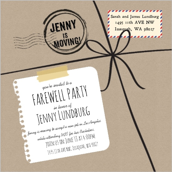 Charming Farewell Party Invite