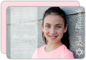 Modern Simplicity Photo Bat Mitzvah Invitation