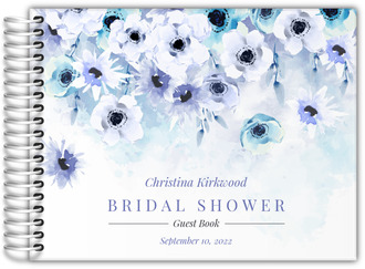 Watercolor Anemones Bridal Shower Guest Book