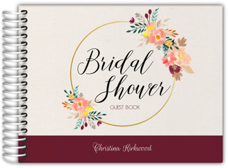Floral Hoop Bridal Shower Guest Book