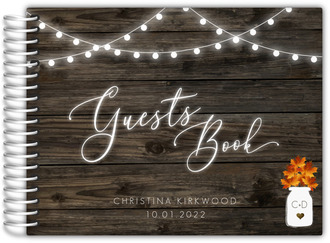 Rustic Falling In Love Bridal Shower Guest Book
