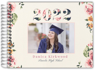 Vintage Floral Year Graduation Guest Book