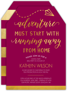 Adventure Quote Going Away Party Invitation