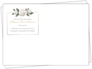 Elegant White Roses Custom Envelope