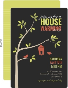 Cute Birdhouse Housewarming Party Invite