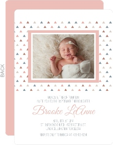 Sweet Little Triangles Baptism Invitation