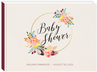 Floral Hoop Baby Shower Guest Book