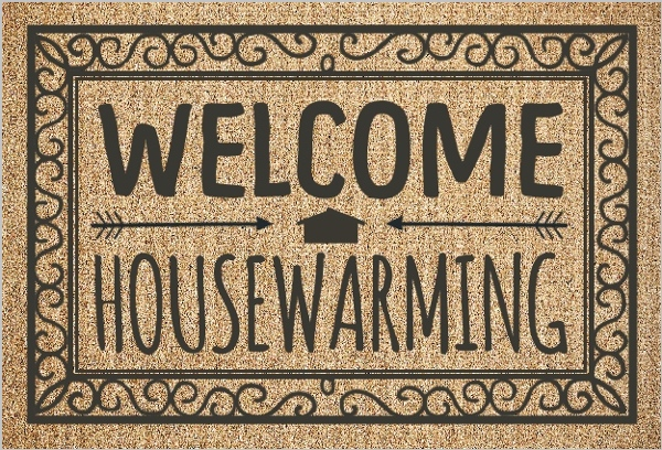 Welcome Rug Housewarming Party Invitation Housewarming Invitations