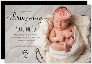 Simply Adorable Christening Invitation