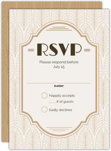 Modern Vintage Gay Wedding Response Card