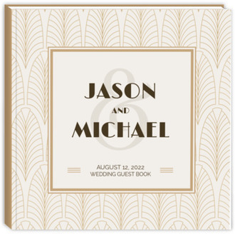 Modern Vintage Wedding Guest Book