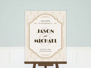 Modern Vintage Wedding Welcome Poster