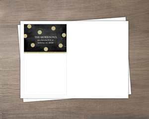 Chalkboard and Gold Glitter Custom Envelope