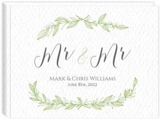 Green Spring Pattern Wedding Guest book