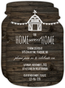 Rustic Farm Housewarming Party Invitation