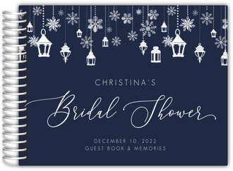 Blue Winter Wonderland Bridal Shower Guest Book