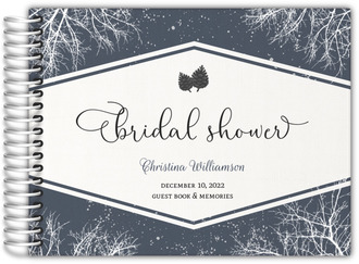Whimsical Winter Snow Bridal Shower Guest Book
