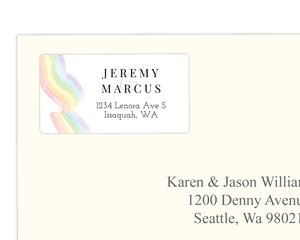 Elegant Rainbow Address Label